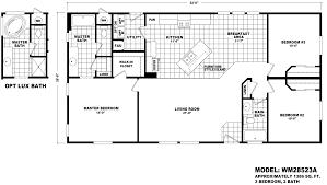 3 bedroom 2 bath mobile home floor plans coastal series wm 28563a