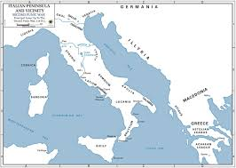 Map Of Ancient Italy by Map Of Italy 218 Bc