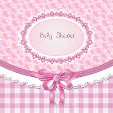 Baby Shower Pastel - baby shower for pink pastel tones royalty free cliparts