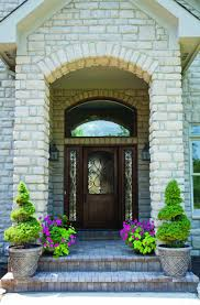 exterior great front porch decoration with light grey stone front
