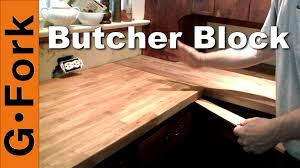 diy ikea butcher block countertop installation gardenfork youtube