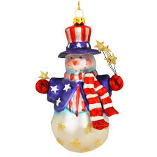 patriotic snowman ornament 1148194 baubles n bling