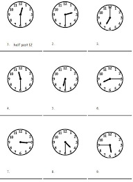 free worksheets telling time worksheets oclock and half past