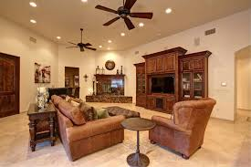 Lancaster Leather Sofa Traditional Living Room With Ceiling Fan Leather In Tucson