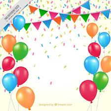 imagenes de cumpleaños sin letras fondo de cumpleaños de globos de colores y banderines descargar