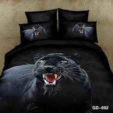 3d black panther bedding set duvet cover cal king size queen full