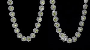 white gold crystal necklace images Designer solitaire center stone 2 tone white gold cluster diamonds jpg