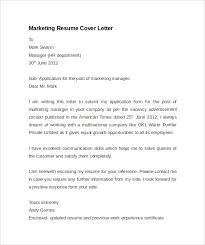 marketing resume exle resume cover letter marketing marketing sle cover letter for a