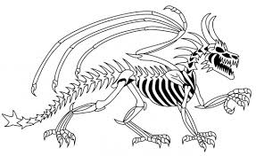 coloring pictures dinosaur bones free printable skeleton