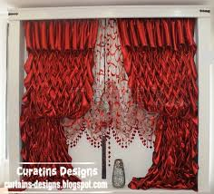 Red Curtains In Bedroom - creative red curtain design red silk curtain model for bedroom
