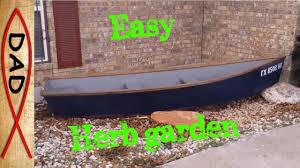 row boat herb garden planter youtube