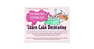 Cake Decorating Classes Cake Decorating Flyers U0026 Programs Zazzle