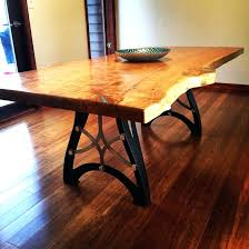 wood dining room tables diy live edge table with steel base