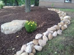 River Rock Garden by Large River Rock Makes An Incredible Border Large River Rock
