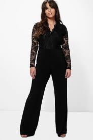 top jumpsuit plus iris sleeve lace top slinky jumpsuit boohoo