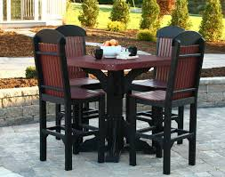 Square Bar Table Poly Lumber Square Bar Table With Four Classic Bar Chairs Set