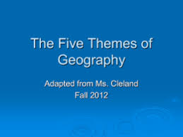 5 themes of geography acronym spice chart