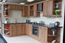 cheap kitchen design brown rectangle modern wooden best price kitchen cabinets varnished