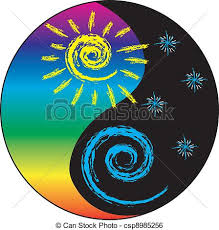 sun and moon yin and yang simple drawing of a yin and yang