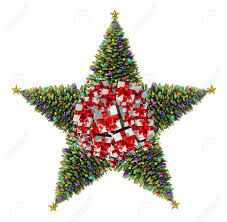Decorate Christmas Tree Naturally by Christmas Tree Star Concept As A Group Of Decorated Christmas