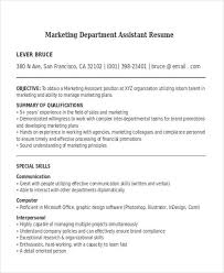 marketing assistant resume cover letter for sales and marketing