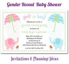 gender reveal baby shower elephant theme gender reveal baby shower invitations planning