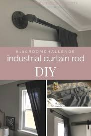 Metal Pipe Curtain Rod How To Add Industrial Style With Diy Pipe Curtain Rods U2014 Alyssa