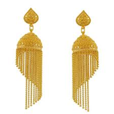 gold jhumki at rs 20000 2 gold earrings id 13468314112