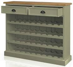 buy tfw mottisfont green floor standing wine rack 2 drawer