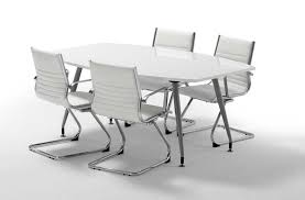 Large White Meeting Table Gloss White Boardroom Table 1800mm