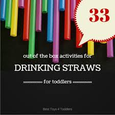 33 out of the box activities with drinking straws for kids