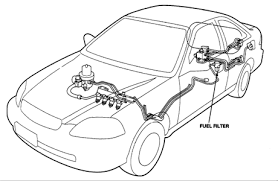 solved where to locate fuel filter on 2003 honda civic fixya