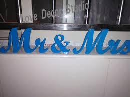mr and mrs sign for wedding aliexpress buy blue sign mr mrs wedding decoration