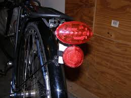 rear bike light rack mount for using seat post bicycle lights on your rack