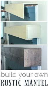 corner fireplace mantel diy rustic shelf diy rustic fireplace