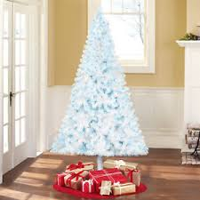 Blue Christmas Decorations Ebay by 6 5 U0027 White Artificial Christmas Tree Pre Lit 400 Blue Lights