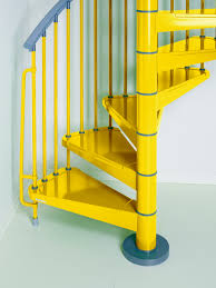 colorful spiral staircase boosting indoor energy steel by