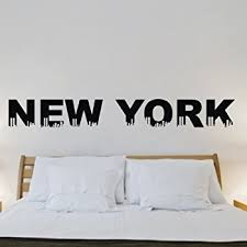 Full Wall Stickers For Bedrooms Wall Decals New York Street Sign City Travel Fashion Office Dorm