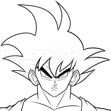 draw dark goku step step dragon ball characters