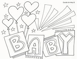 baby coloring pages doodle art alley