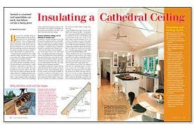 Insulating Vaulted Ceilings by Insulating A Cathedral Ceiling Vented Or Unvented Roof Assemblies