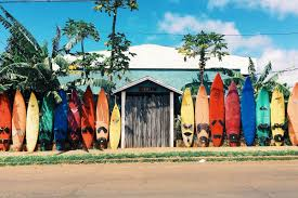 looking for surfing jobs the world surf league has a perfect one surfboards leaning against shack