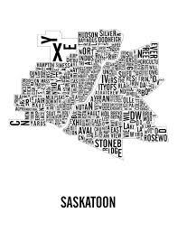 Blank Map Of Saskatchewan by Saskatoon Saskatchewan City Map Saskatoon Art Saskatoon
