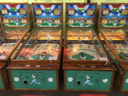came across an arcade with 36 of these old baseball pinball type