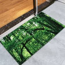 forest coral water absorbent velvet area rug green w inch l