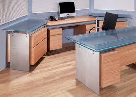 Bamboo Desks Modern Executive Glass Top Desk Metal And Glass Desk Stoneline