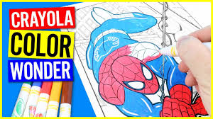 crayola colour marvel ultimate spider man mess free