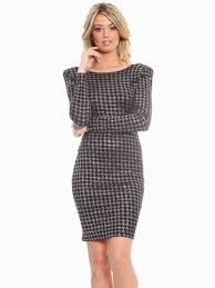 red loft collection houndstooth cocktail dress modishonline com