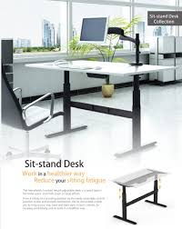 Electric Sit To Stand Desk by Brateck Height Adjustable Standing Desk H 750mm 1200mm W 1500mm