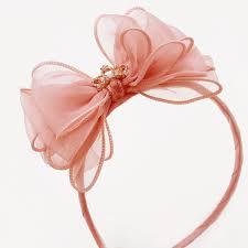 bow headband li tiara bow headband in blush color